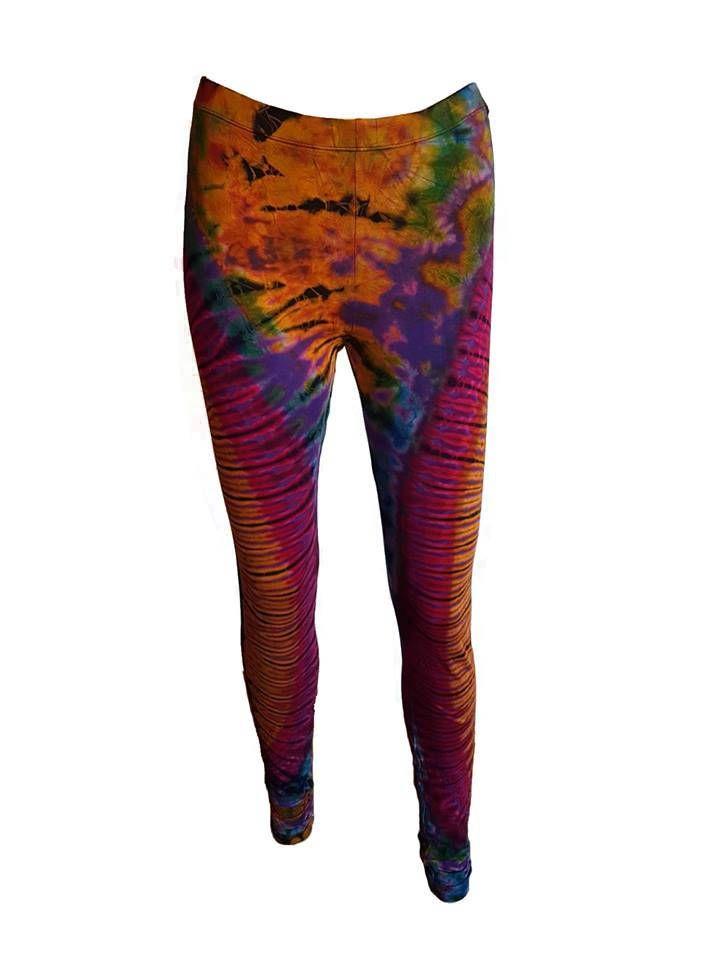 Tie Dye Leggings, Yoga Leggings, Ladies Tie Dye Legging, Hand Dyed Leggings, Multi Coloured Leggings
