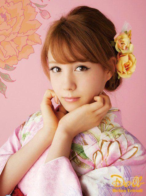 【トリンドル玲奈】doll Reina Triendl 和服秋天代言 亚洲范 蝴蝶网 ヘアスタイル