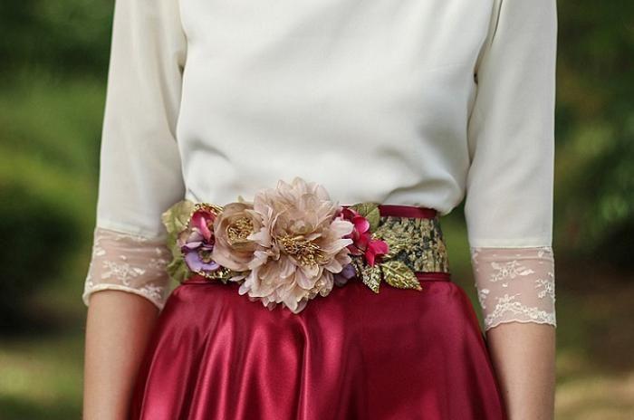 cinturones de flores para vestidos de fiesta