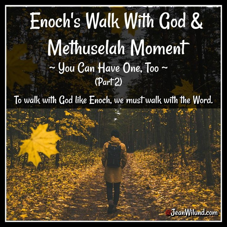 Genesis 5:24 Enoch walked with God, and then he was no ...