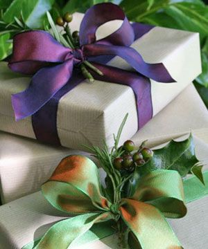 French Country Christmas - gift wrap ideas