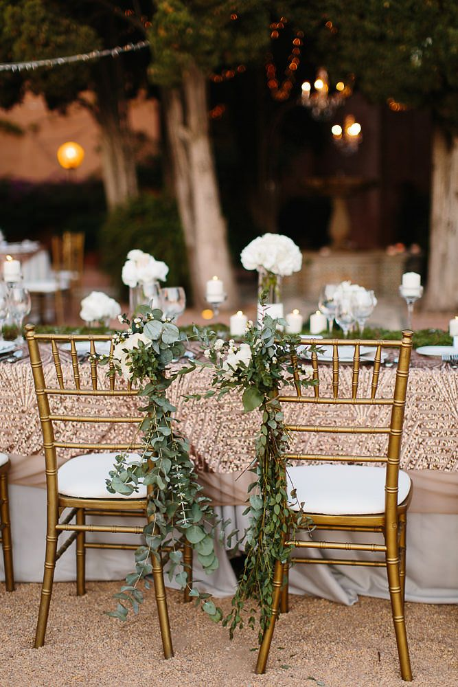 Sequin Table Cloth | Chair Decor | Fiesta Sol Marbella Luxury Destination Wedding | White on White Colour Scheme | Andreas Holm Photography | http://www.rockmywedding.co.uk/ashling-val/