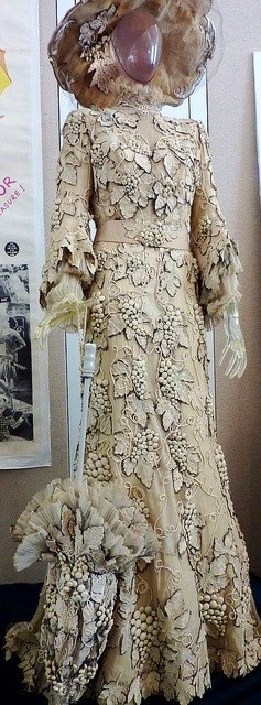 """Costume worn by Mary Astor as Mrs. Anna Smith in the movie, """"Meet Me in St. Louis."""" Designed by Irene Sharaff."""