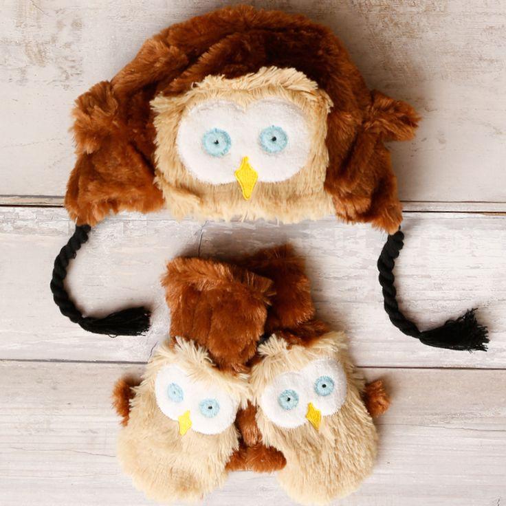 So fuzzy and warm! #Hatley #owl #cute #winter #kidsfashion