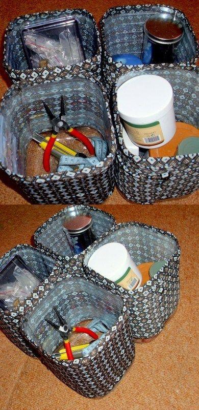 Cutie pentru depozitare din sticle PET- tutorial pas cu pas Reciclare Creativa