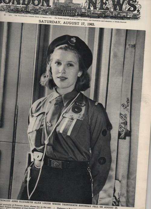 Prinzessin Anne als 13-jährige Pfadfinderin ----  Princess Anne as a Girl Guide at age 13