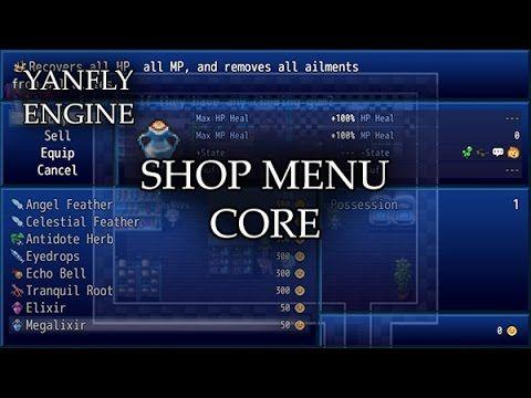 Shop Menu Core Released: 2016 01 01 The shop menu in RPG