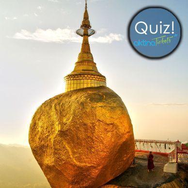 ☛Kαι το κυριακάτικο quiz μας !! Γνωστή και ως Golden Rock είναι ένας πολύ γνωστό τόπος προσκυνήματος βουδιστών.Μια μικρή παγόδα (7,3 μέτρα) χτισμένη στην κορυφή ένος τεράστιου βράχου,από γρανίτη που καλύπτεται με φύλλα χρυσού.  ☛Ποιο είναι το ονομά της και σε ποια πολιτεία βρίσκεται ?