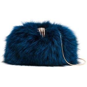 Benedetta Bruzziches hand clasp fox fur clutch
