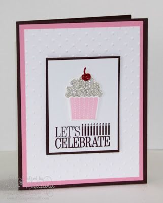 Jill's Card Creations: April 2013. Cupcake birthday card.