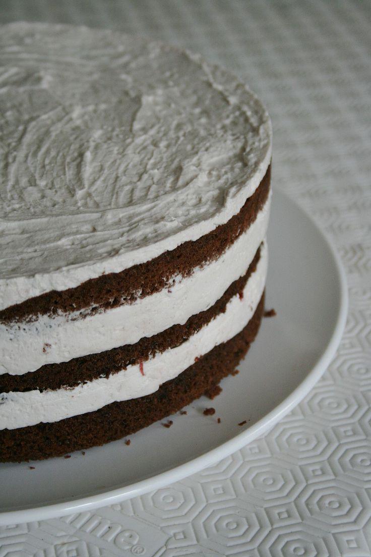 layer cake chocolat et fraise u gateau à étages Minouchka 1
