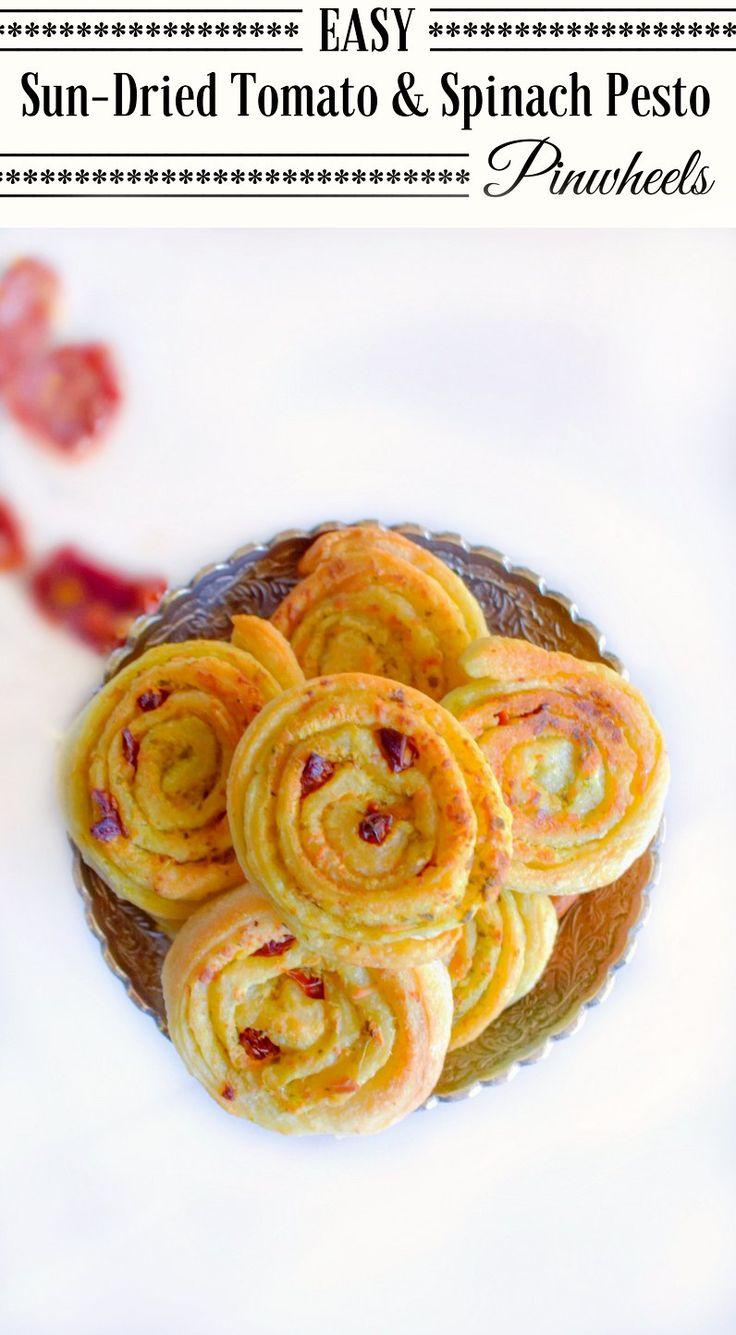 Easy Sun-Dried Tomato and Spinach Pesto Pinwheels: #ad #LoveItShareIt @cavitwines #pesto #pinwheels #sundriedtomato #snack