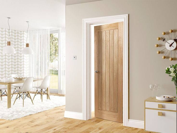 Deanta oak internal door sitting room