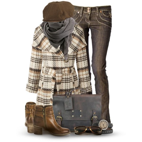 Fall OutfitPlaid Coats, Style, Bulletproof Vest, Winter Outfit, Coldwater Creek, Fall Outfits, Fashionista Trends, Fall Fashion Trends, Polyvore Fashion