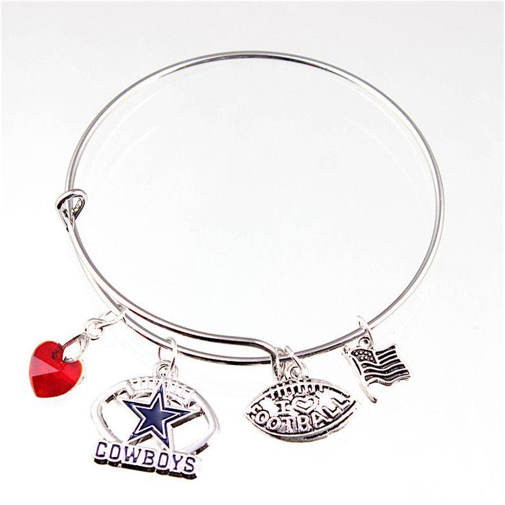 Dallas Cowboys Charm Bangle Bracelet