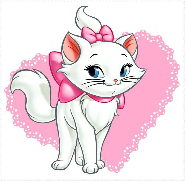 Кошечка мультяшная открытка