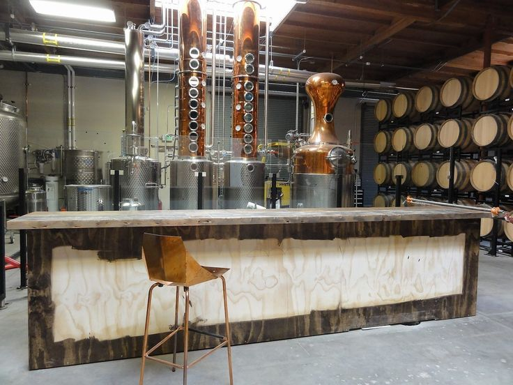 Distillery Tasting Room. These raw materials allow me to consider what to use. Also the concept of this space is interspersing and makes me question whether I could fit a small testing room within my design.
