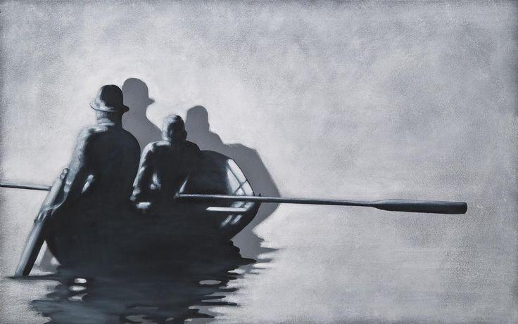 Obliterated Memory, 2011 by Hannu Palosuo. Oil on canvas, 100 x 160 cm. Price 6700€. Inquiries: sari.seitovirta@seitsemanvirtaa.com / GALERIE SEITSEMÄN VIRTAA