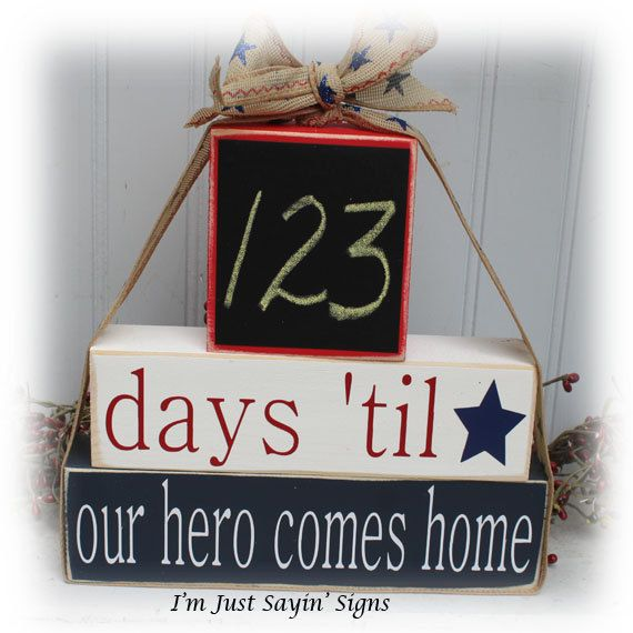 Deployment Countdown Blocks by ImJustSayinSigns on Etsy