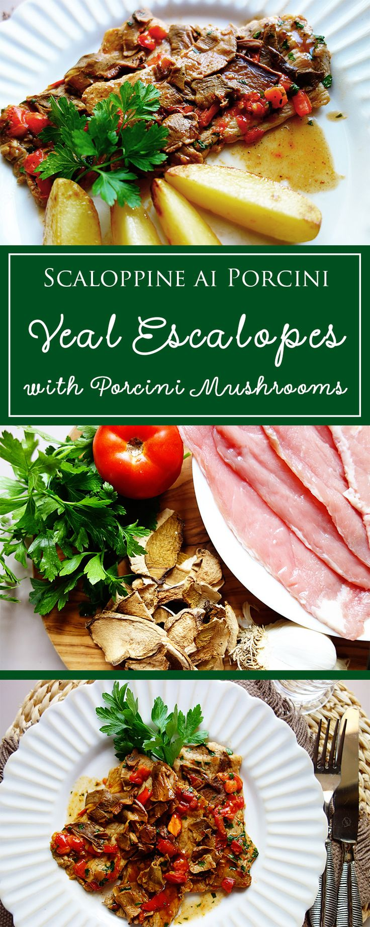 hearty veal escalopes with porcini mushrooms a simple gluten free recipe for the italian
