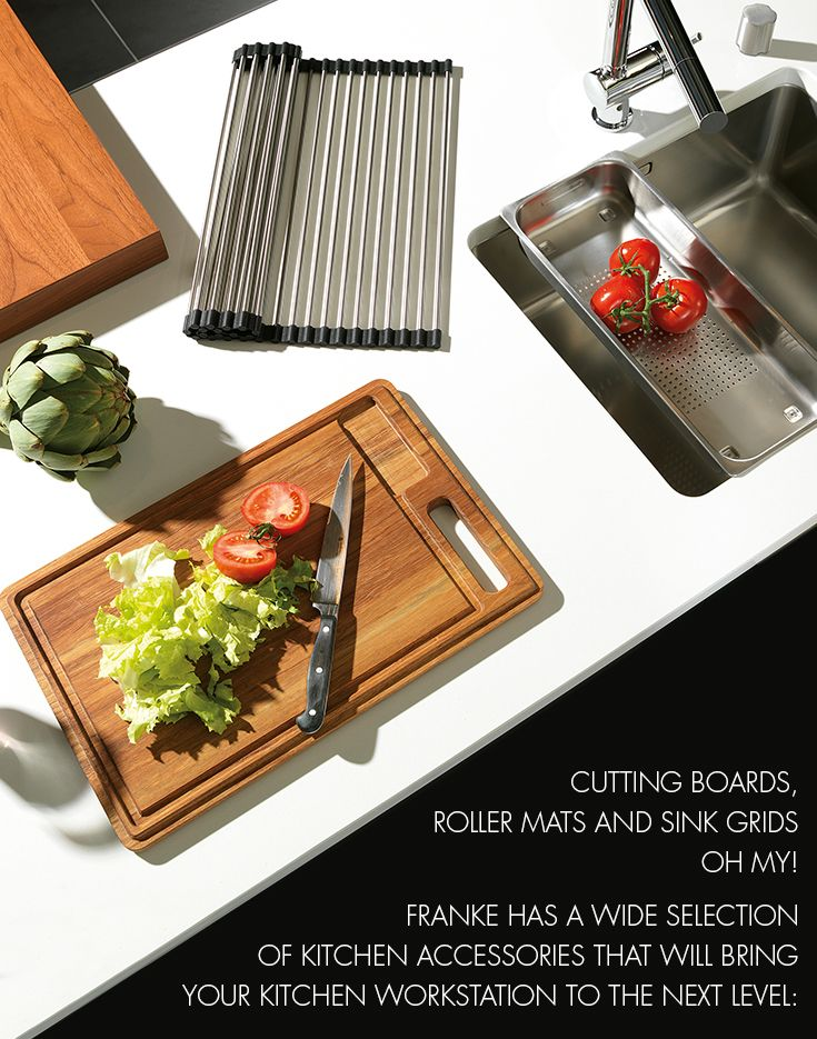 Cutting Boards, Roller Mats And Sink Grids Oh My! Franke Has A Wide  Selection