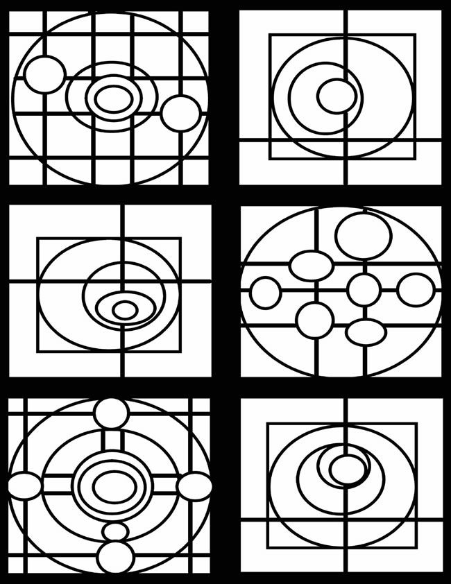 coloring pages geometric staind glass - photo#20