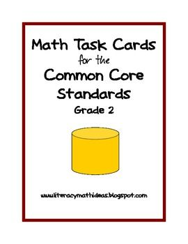 This collection of 36 task cards covers ALL THE MATH CATEGORIES in the Common Core Math Standards. This includes Operations and Algebraic Thinking, Number and Operations, Measurement and Data, plus Geometry. These open-ended task cards can be used over and over and are a fantastic way to introduce students to the new Common Core Math Standards.