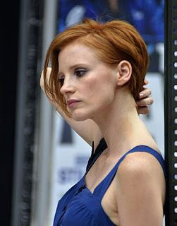 """Jessica Chastain's hair for """"The Disappearance of Eleanor Rigby"""" - very Barbra, I think this is it <3"""