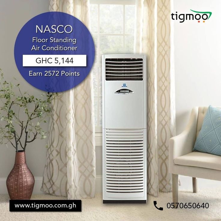 NASCO 2.5 HP #FloorStandingAirConditioner available at an affordable price of GHC 5144  Order now: https://www.tigmoo.com.gh/nasco-2-5hp-floor-standing-air-conditioner-mfs2-24cr-24-000btu.html