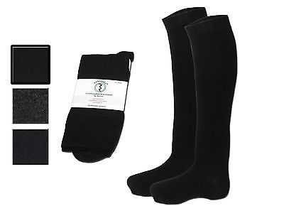 3 pairs mens knee high socks - dress knee socks mid-weight long cut with cotton
