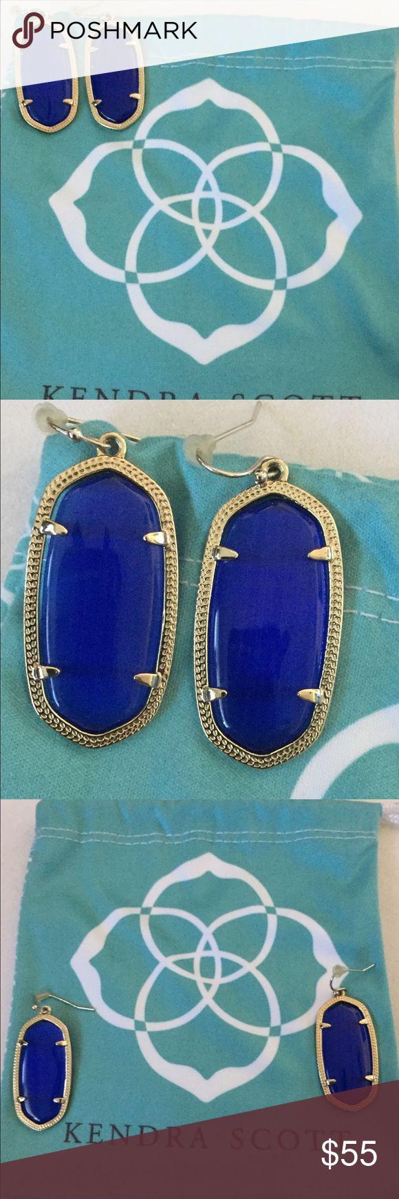 Brand New -- Cobalt Blue Kendra Scott Elle's Beautiful Cobalt Blue -- Kendra Scott -- Elle Earrings -- No Returns -- Make An Offer Kendra Scott Jewelry Earrings