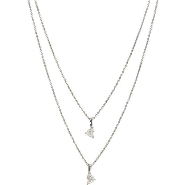 Maison Margiela Fine Diamond & White Gold Bisected Solitaire Pendant N ($7,900) ❤ liked on Polyvore