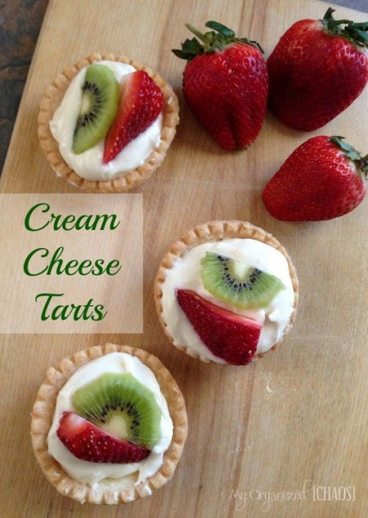 The dessert was a recipe of my mother-in-laws, Cream Cheese Tarts Topped with Fruit, which I'd consider the perfect Summer Dessert. She'd made it many times