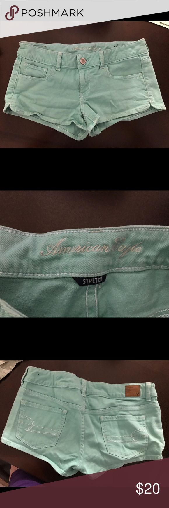American Eagle mint green shorts Size 8 American Eagle shorts. Make sure to check out my closet for more shorts and clothes. American Eagle Outfitters Shorts
