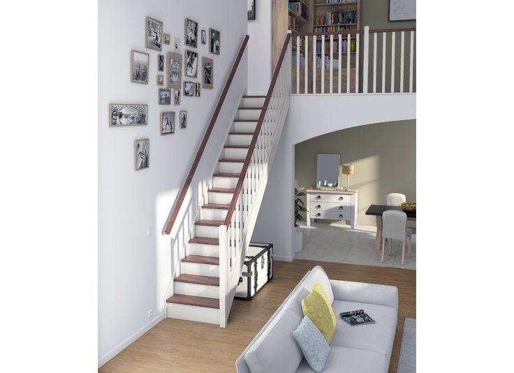 Les 32 meilleures images du tableau escaliers sur for Escalier bois interieur