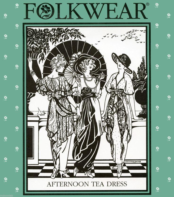 Folkwear 265 Afternoon Tea Dress Tunic Sewing Pattern 1912 Edwardian Costume   eBay