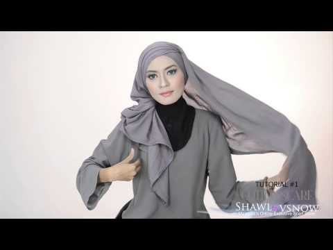 Shawlbyvsnow : Hijab Tutorial with VS Cotton Scarf ( 2 style ) - YouTube