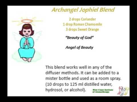 Archangel Jophiel  Blend - an essential oil blend based on the energetics of this Archangel.#westcoastaromatherapy #learnaromatherapy #learnaboutessentialoils #aromatherapycourses #aromatherapyschool #1iloveessentialoils #essentialoils4everyone