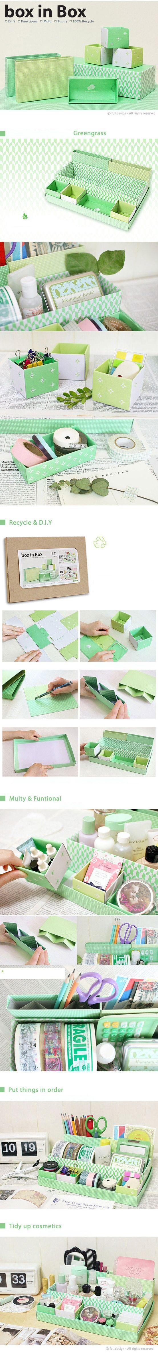 Boites en carton dans une boite en carton ~ tuto