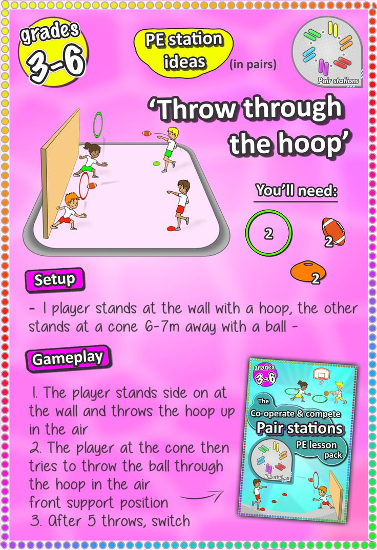 throwing skill station for grades 3-6 - Check out more printable sport stations here