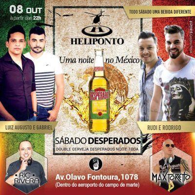 Heliponto Bar | Sábado Desperados - Double Cerveja Desperados a Noite Toda Coloque seu nome na lista pelo link: http://www.baladassp.com.br/balada-sp-evento/Heliponto-Bar/523 Whats: 951674133