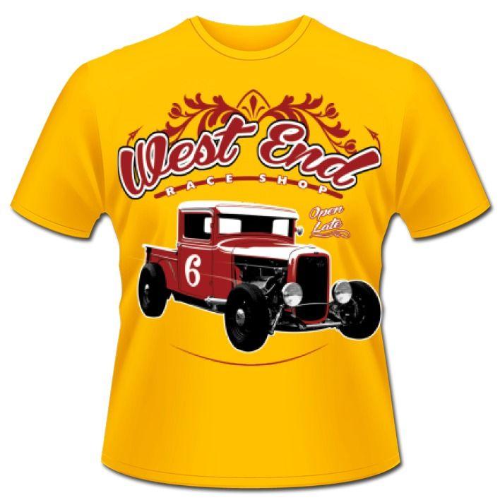 Cooles T-Shirt - Motiv fr Hot Rod - Fans.Wenn ihr auf aufgemotzte amerikanische Oldtimer steht oder selbst Schrauber seid, dann ist dieses Schirt genau das Richtige fr euch. Motivgre: 13x13 Zoll