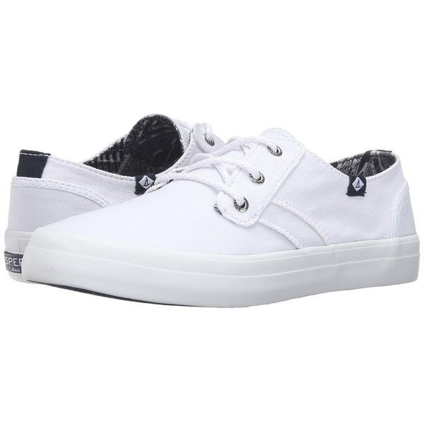 Sperry Top-Sider Crest Rider Canvas (White) Women's Lace up casual.