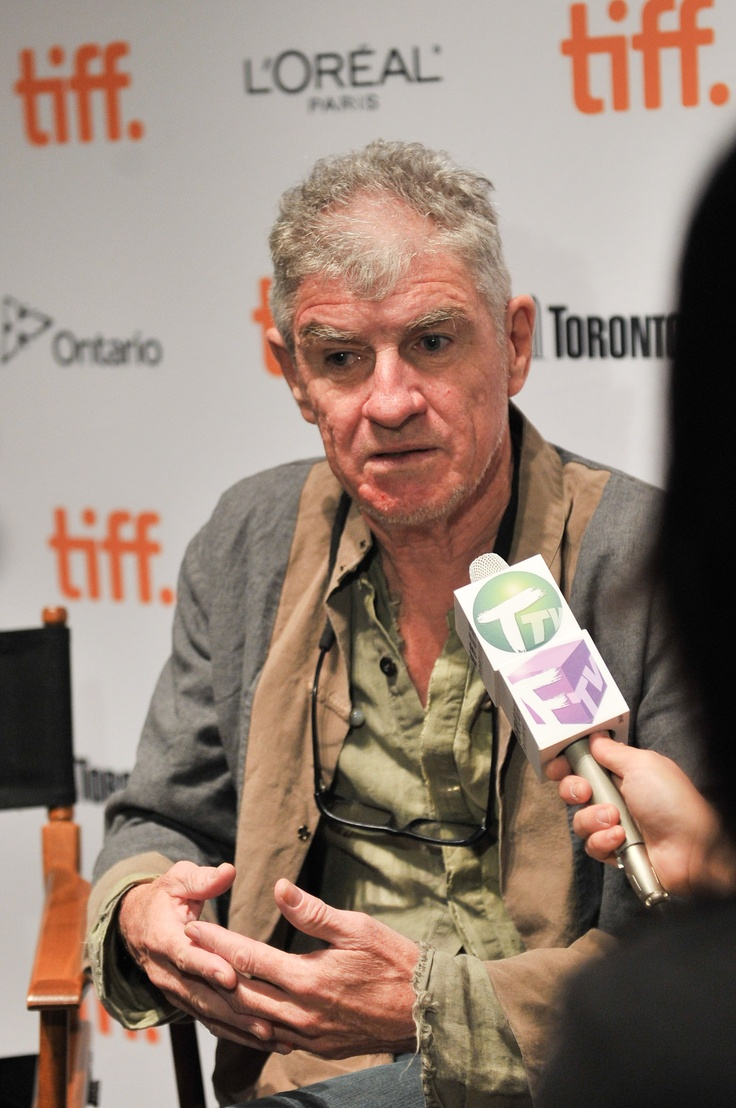 Christopher Doyle being interviewed on the media preview day for his exhibition: Christpher Doyle Du-Ke Feng: Away with Words