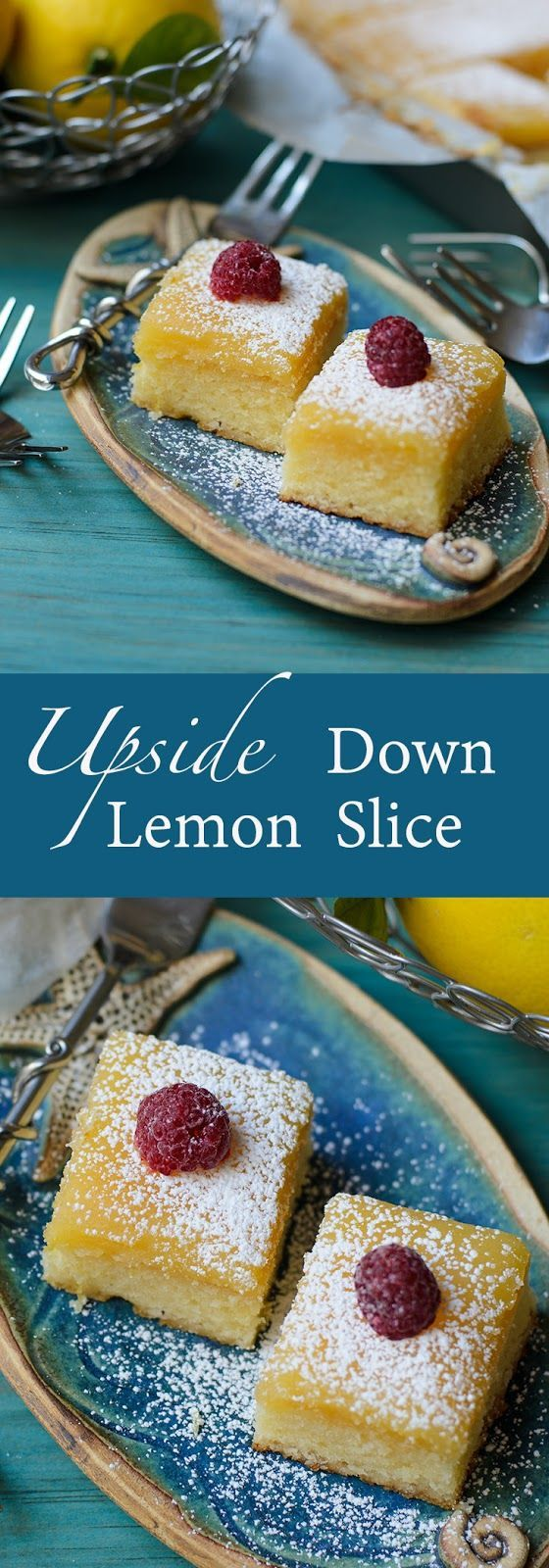 Upside down lemon slice ~ moist, moreish, perfect for afternoon tea with friends