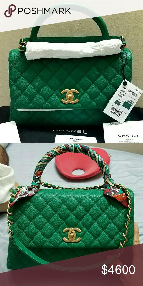 Chanel Coco Handle Used twice, still brand new, have reciept & tag. Sell with a hermes twilly cost $180. CHANEL Bags