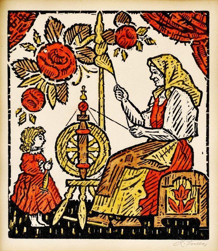 L.Fulla,Slovak painter and illustrator.Children's book illustration.