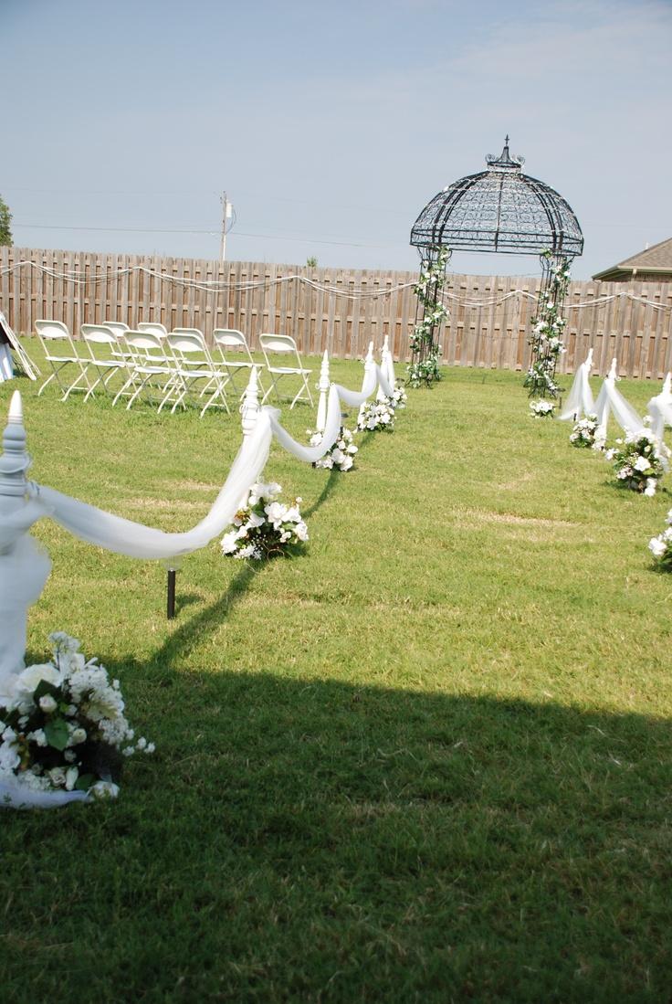 Outdoor Wedding isle