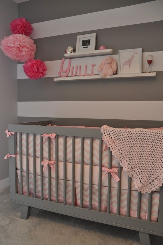 pink and grey nursery @ Happy Learning Education Ideas
