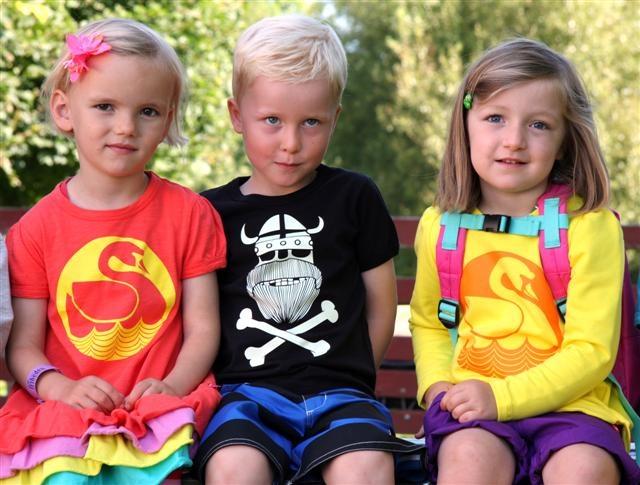 Danish kids wearing Danish brand of clothing called Danefae!